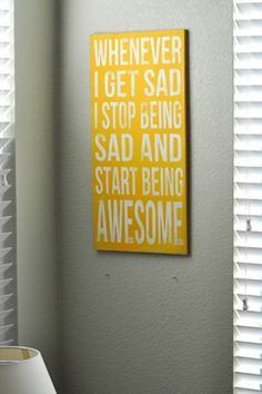 Start Being Awesome typography art