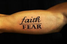 FAITH over fear. Love this and so fits me right now.