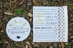 wedding invitations with polka dots, photo by Orange Owl Photography http://ruffledblog.com/a-whimsical-bohemian-wedding-in-la-jolla #weddinginvitations #stationery