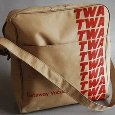 beige twa rare flight bag
