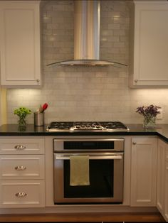 stove, applianc, contemporary kitchens, range hoods, subway tiles
