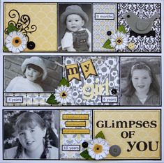 GLIMPSES OF YOU - Scrapbook.com. Shadow box ideas?