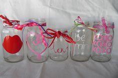 Valentine's Day jars - mason jars=obsessed!