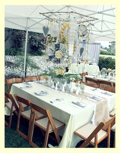 Vintage Grey & Yellow Bridal Shower - Kara's Party Ideas - The Place for All Things Party