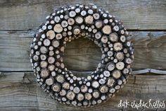 a log wreath