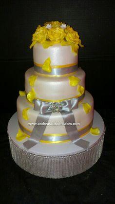 Shower Cakes on Pinterest | Bling Wedding Cakes, Hexagon Wedding Cake ...