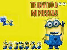 Invitacion de minion | Minion piñata | Pinterest