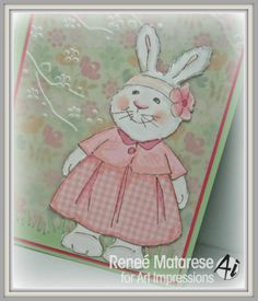 Art Impressions KATE Easter bunny card.