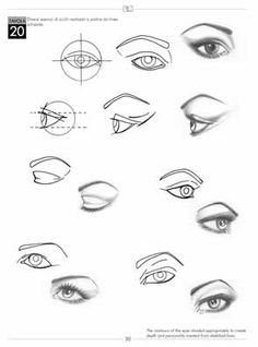diagram to draw eyes