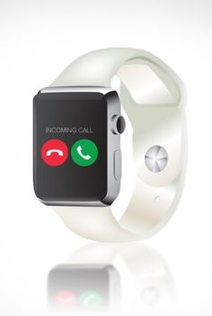 A transparent wristband Apple Watch concept.