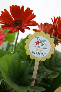 Teacher Appreciation Flowers & free printable