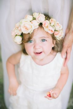 adorable flower girl with roses in her hair http://www.weddingchicks.com/2013/11/25/national-park-wedding/
