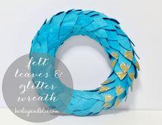 Felt and Glitter Wreath (using Mod Podge!!)