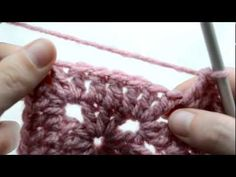 PART 3 - Crochet Lessons  - How to work the solid granny square crochet lesson, crochet stuff, craft, crochet creation, granny squares, granni squar, crochet video, solid granni, crochet tutori