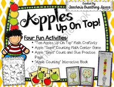 Apples Up On Top --- Four Fun Apple Counting and Number Recognition Activities from Teacher's Breathing Space on TeachersNotebook.com -  (21 pages)  - Apples Up On Top --- Four Fun Apple Counting and Number Recognition Activities