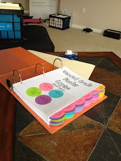 Orange Polka Dots: organize master copies for the year