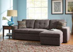 Gus Charcoal & Black Sleeper Sectional sleeper sofa, charcoal, sofa beds, hous, gus, live room, black chenill, sectional sofas, fine furniture