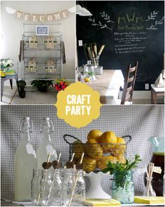 Host a Spring Craft Party! via @Courtney Baker Whitmore | Pizzazzerie