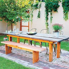 picnic patio, western garden, sunset, picnic tables, garden book