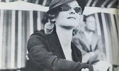 1930s Bette Davis wearing sunglasses