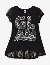 Beautees Black Lace Glam Top – Girls 7-16