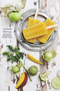Cocktail Popsicle: Grilled Mango Smash | Bakers Royale
