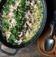 Recipe: Lemon Braised Chicken  Beans with Mint Pesto
