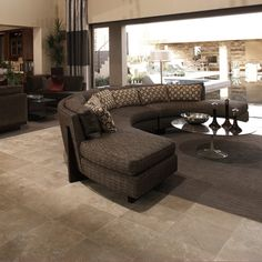 Details: The New American Home 2009. Photo features Durango 16 x 16 Travertine on the floor.