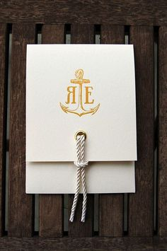 Nautical Wedding Invites via Paper Crave