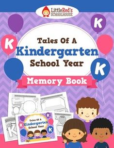 End of Year Memory Book - Tales of a Kindergarten School Year $