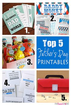 Top 5 Father's Day Printables | FiveHeartHome.com