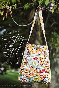 Copy Cat Bag- This is really cute, but the link doesn't work anymore... maybe I could make up my own pattern, or alter another one to work???