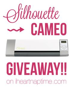 Silhouette CAMEO giveaway that @Jamielyn {iheartnaptime.net} is hosting!