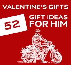 Unique Valentine's Day gift ideas for him.