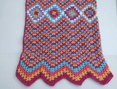 crochet throw, Moroccan style blanket
