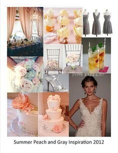 another peach and gray wedding