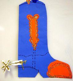 cowboy boot art project