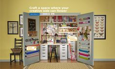 Open the door to creativity - turn a closet into a full crafting space!