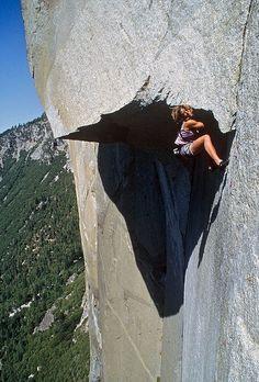 Lynn Hill freeing the Nose of El Capitan.