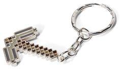 ThinkGeek :: Minecraft Pickaxe Keychain