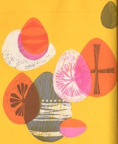 EASTER Book Mid Century Modern print