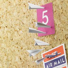 paper airplane push pins.