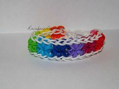 Colorful Starburst Rainbow Loom Bracelet