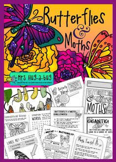 Did you know that although most butterflies prefer to drink flower nectar, some like to feed on the liquids found in rotting fruit and animal dung!?  If you've finished the obligatory 'butterfly life cycle' study and need a fun way to end your unit, then this 'Butterflies and Moth' pack might be just what you've been looking for!  Celebrate some lesser known facts about butterflies and the un-glamorous moth with this 24 page booklet...