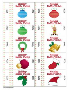 Raffle tickets - if you'd like to exchange ornaments via raffle.