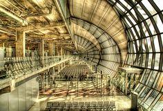Suvarnabhumi Airport in HDR bangkok, books, architects, airports, factori, train stations, thailand, interior architecture, key