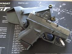Baby Glock for concealed carry. Nice and compact makes it easy and comfortable for concealment.
