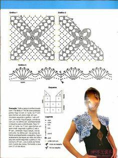 بوليرو كروشيه بالباترون - crochet bolero with pattern ~ شغل ابره NEEDLE CRAFTS