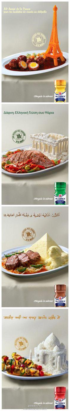 Creative food advertising