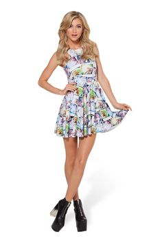 Dobby Reversible Skater Dress by Black Milk Clothing $95AUD